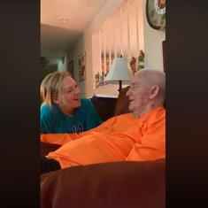 Watch: Alzheimer's patient sings 'Somewhere over the rainbow' with his granddaughter