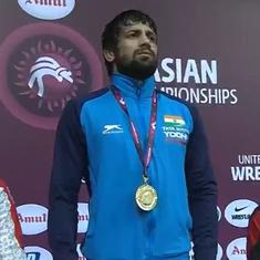 Asian Wrestling Championships: India's Ravi Dahiya wins gold medal in 57kg category