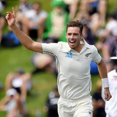 Tim Southee's five wickets help New Zealand beat India by 10 wickets in first Test