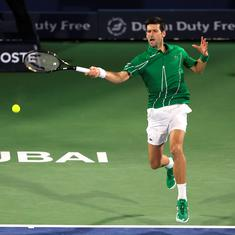 Dubai Open tennis: Novak Djokovic bags comfortable win in first match since Australian Open triumph
