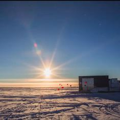 Watch: The summer sun never sets at Antarctica, it stays just above the horizon