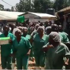Watch: How health workers in Congo celebrated after the last Ebola patient was discharged