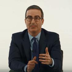 John Oliver's show was recorded without an audience because of coronavirus-led social distancing