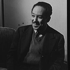 Poet Langston Hughes enjoyed international stardom but never felt at home in America