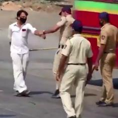 Watch: Indian police are beating up people on the streets to enforce the coronavirus lockdown