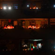 In photos: Millions of Indians light lamps, candles to show unity in the fight against coronavirus