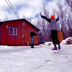 Watch: Rousing solo bhangra dance to bagpipe music from Canada's snow-clad Yukon