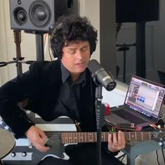 Watch: Billie Joe Armstrong of 'Green Day' covers 'Think We're Alone Now' originally sung by Tiffany
