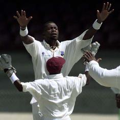 Watch: Curtly Ambrose destroys England with a fiery spell of 8/45 in 1990 Barbados Test