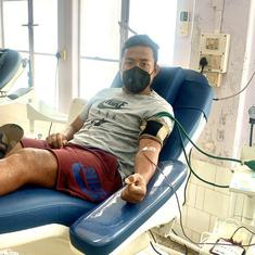 Coronavirus: Footballer Jeje Lalpekhlua donates blood to help hospitals deal with shortage