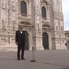 Watch: Italian opera singer Andrea Bocelli's sublime solos on Easter in a deserted Milan