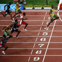 Coronavirus: Usain Bolt urges social distancing with cheeky 2008 Olympic finish line photo