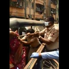 Watch: Police overturn vegetable cart in Mumbai containment zone, scuffle ensues as vendor hits back