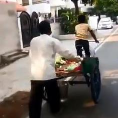 Caught on camera: UP BJP MLA threatens to beat up Muslim vegetable vendor