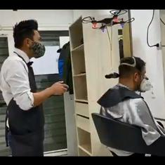 Watch: Here's what a socially distant haircut may look like. It involves a drone