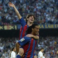 Pause, rewind, play: When Messi scored his first Barcelona goal with a classy assist from Ronaldinho