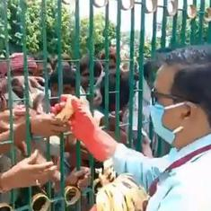 One banana per migrant worker: Chaos in transit centre in UP as they try to collect their dues