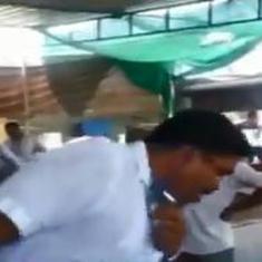 Caught on camera: BJP MLA Arvind Raiyani spits inside a community kitchen in Rajkot, Gujarat