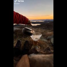 Watch: This TikTok user travels to exotic locations to brew his morning coffee
