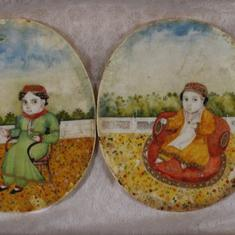 In an unknown artist's miniatures, we get a glimpse of the heirs apparent of Awadh's last king