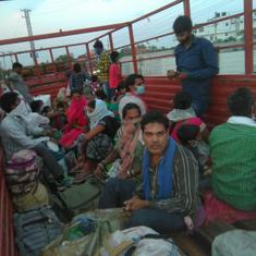 Chhattisgarh's migrant workers, stranded in Telangana, make desperate journeys home