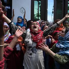 In pictures: Grief over a Kashmir civilian killed by CRPF sparks anti-government protests