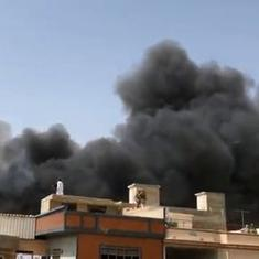 Watch: Scenes from Karachi after PIA aircraft from Lahore crashes in residential area