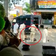 Caught on camera: Policeman brutally beats up a person in Chhindwara, MP, has him dumped in a van