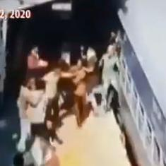 Watch: Migrant workers on board 'Shramik Special' train are forced to fight for food in Kanpur