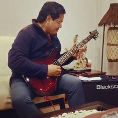 Watch: Meghalaya Chief Minister Conrad Sangma plays Iron Maiden's 'Wasted Years' on his guitar