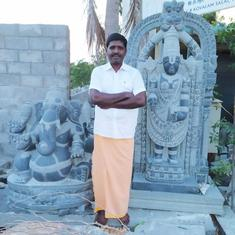 Hard Times: In Mahabhalipuram, Covid-19 lockdown silences the chipping sound of this sculptor