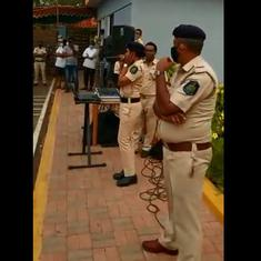 Watch: Goa Police officials sing to entertain migrant workers stranded in the state