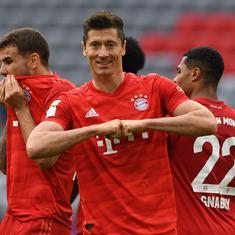 Bundesliga: Lewandowski scores a brace as Bayern Munich drub Dusseldorf to open up 10-point lead