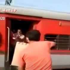 'Biscuits for boss's birthday': Watch how apathetic railway officials treated migrant workers in UP