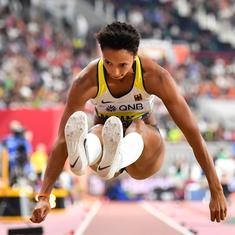 Long-jump world champion Malaika Mihambo to team up with athletics legends Carl Lewis, Leroy Burrell