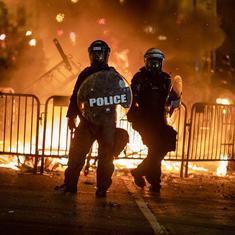 अमेरिका : कई शहरों में कर्फ्यू, व्हाइट हाउस के बाहर हिंसा के चलते ट्रंप बंकर में ले जाए गए