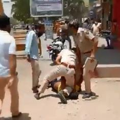 Caught on camera: Jodhpur police constable kneels on a person's neck for stepping out without a mask