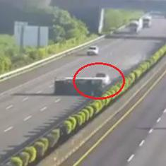 Watch: Tesla Model 3 crashes into an overturned truck while on autopilot mode