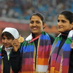 Pause, rewind, play: When Krishna Poonia led India's medal sweep in women's discus throw at CWG 2010