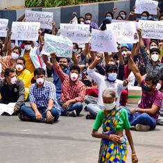 Over 300 doctors protest outside Hyderabad hospital after assault by Covid-19 patient's kin