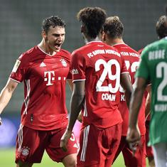 Bundesliga: Bayern Munich win eighth straight title with 1-0 win over Werder Bremen