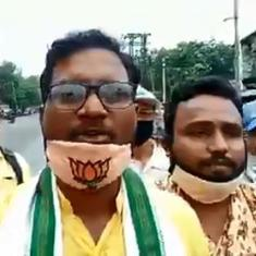 Watch: Bengal BJP workers burn effigy of 'China's Prime Minister Kim Jong' at rally