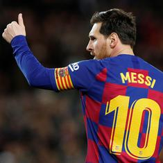 Can't imagine Barcelona without him: Former defender Van Bronckhorst hopes Lionel Messi stays put