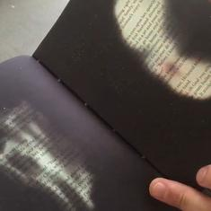 Watch: Fittingly, this edition of the book 'Fahrenheit 451' can only be read by 'burning' it