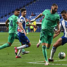 La Liga: Karim Benzema shines as Real Madrid edge past Espanyol to go two points clear of Barcelona