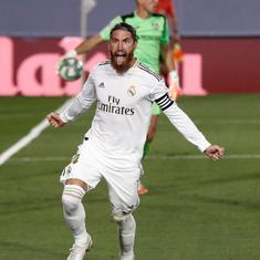 La Liga: Sergio Ramos nets winner as Real Madrid take a big step towards title with win over Getafe