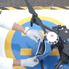 Watch: Drones drop off face masks at hospitals as Covid-19 cases surge in Mexico