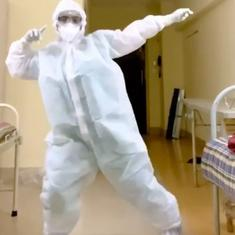 Watch: Doctor dressed in PPE dances to 'Garmi' from 'Street Dancer' in Mumbai
