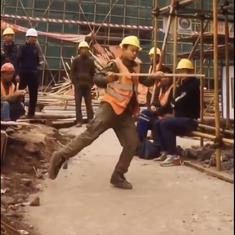 Watch: Construction worker performs Michael Jackson's moonwalk with incredible style and grace