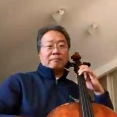 Watch: Cellist Yo-Yo Ma pays tribute to Ennio Morricone with the love theme from 'Cinema Paradiso'